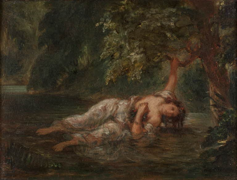 The Death of Ophelia, Eugène Delacroix, 1853, Louvre Museum