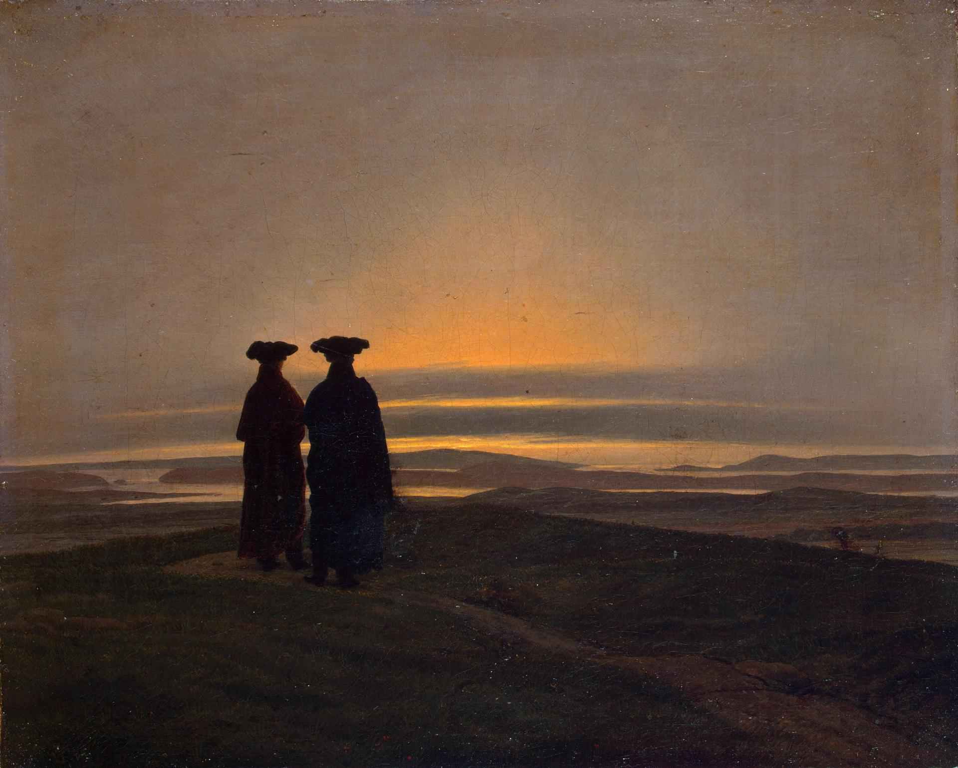 The sunset, Caspar David Friedrich, 1830-1835, Museo dell'Ermitage, San Pietroburgo