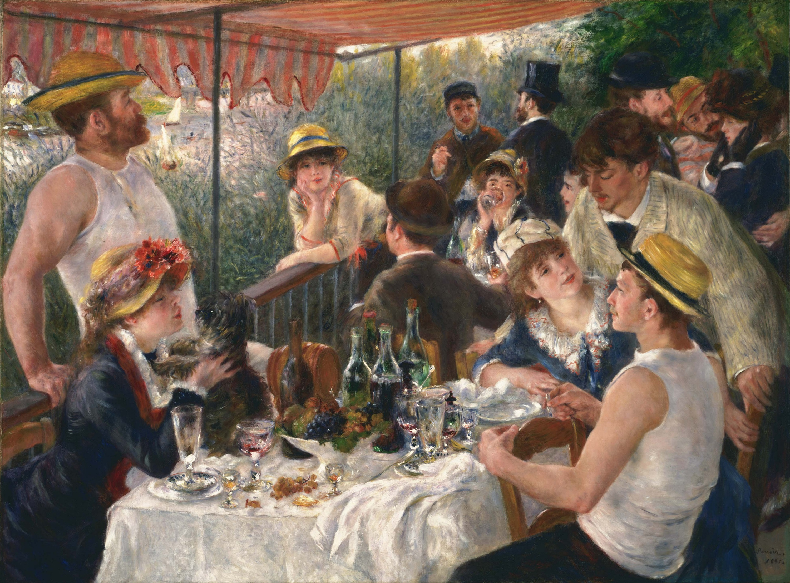 Pierre-Auguste Renoir, La colazione dei canottieri (1881); olio su tela, Phillips Collection, Washington