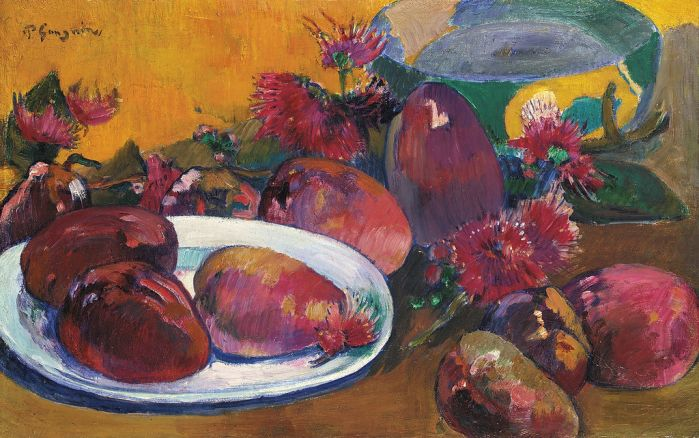Still life with mangoes, Paul Gaugin, 1893, Collezione privata