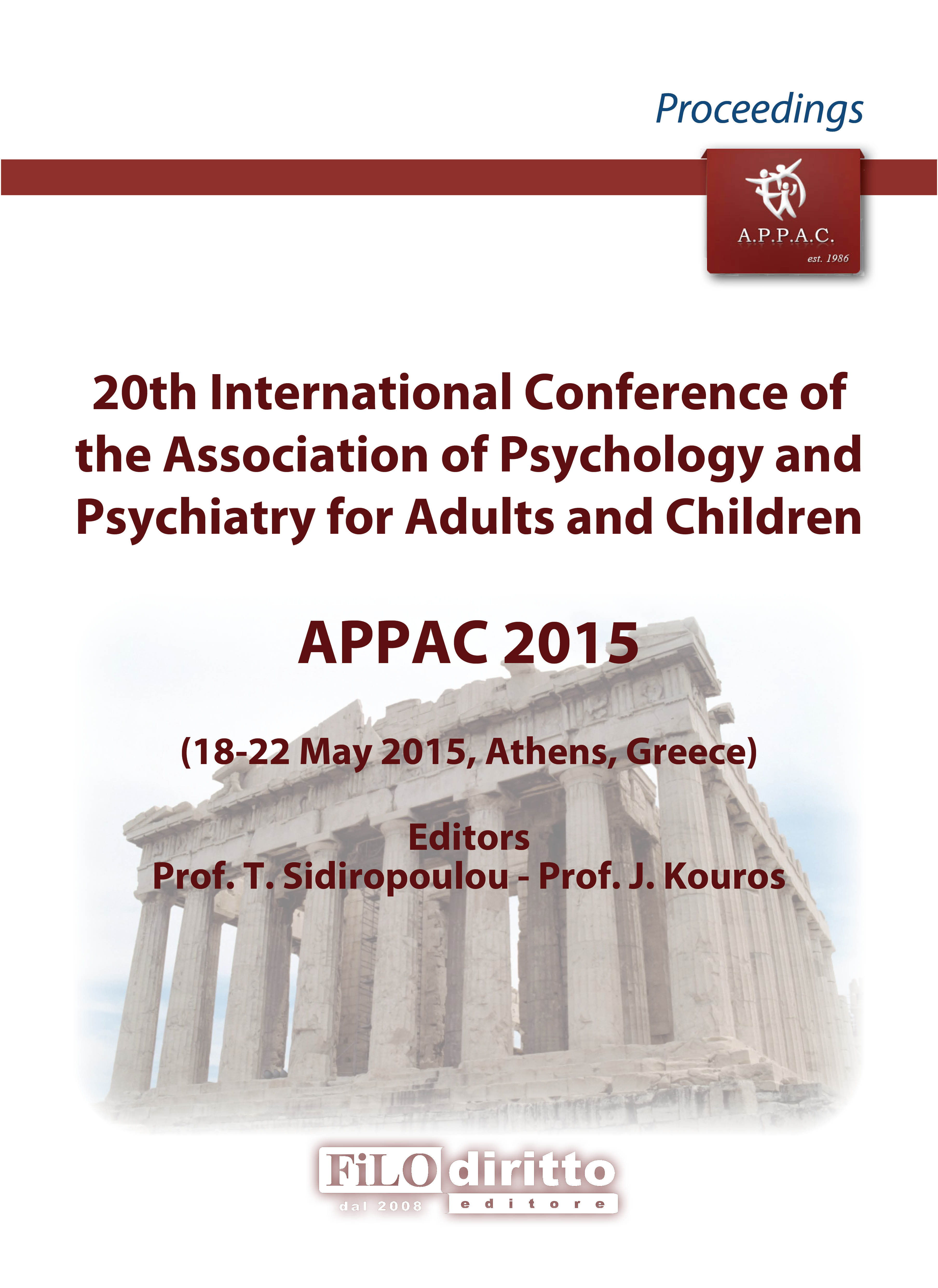 20th International Conference of the Association of Psychology and Psychiatry for Adults and Children - APPAC 2015