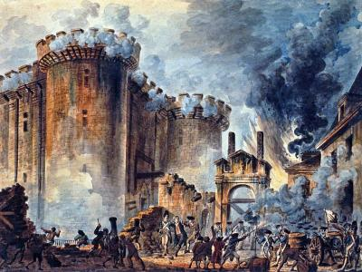 The Storming of the Bastille, Jean-Pierre Houel, 1789, Bibliotèque nationale de France