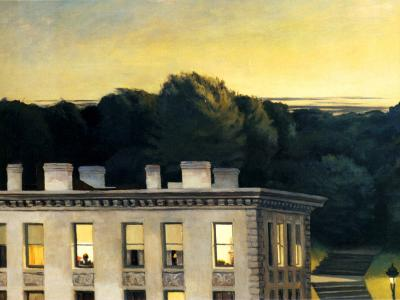 House at dusk, Edward Hooper, 1935, Virginia Museum of Fine Arts, Richmond, VA, USA