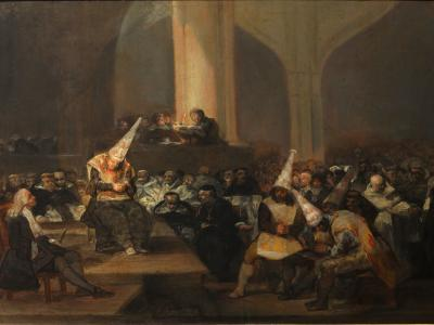 Francisco de Goya - Escena de Inquisición - 1812–1819 -  Real Academia de Bellas Artes de San Fernando in Madrid