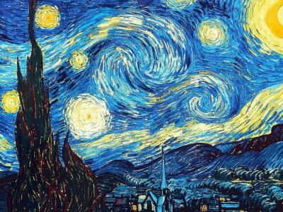 Vincent van Gogh, Notte stellata, 1889, New York, Museum of Modern Art