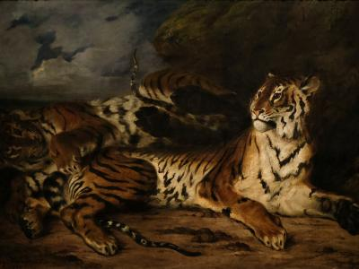 Eugène Delacroix, A Young Tiger Playing with its Mother, 1830-31, MET, New York