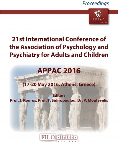 21st International Conference of the Association of Psychology and Psychiatry for Adults and Children - APPAC 2016