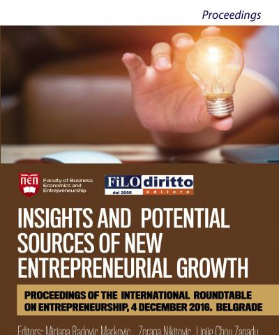 Insights and Potential Sources of New Entrepreneurial Growth (Belgrade, Serbia, 2016)