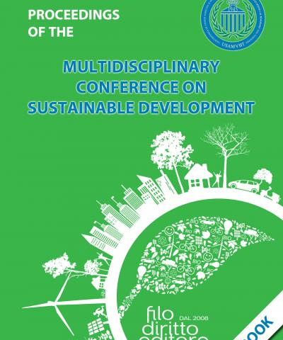 Multidisciplinary Conference on Sustainable Development - 2019