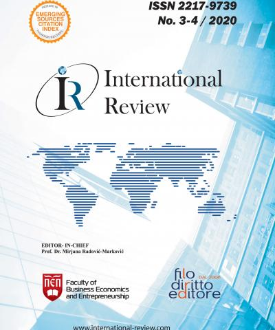 "Journal ""INTERNATIONAL REVIEW"" Issue n.3-4 / 2020"