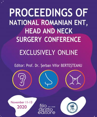 NATIONAL ROMANIAN ENT, HEAD AND NECK SURGERY  CONFERENCE (Craiova, Romania, 11-13 November 2020 online)